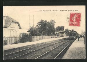 AK Sartrouville, La Nouvelle Gare et les Quais, Bahnhof