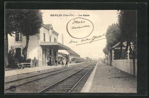 AK Genlis, La Gare, Bahnhof