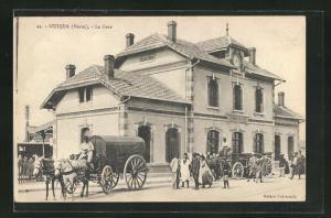 AK Oujda, La Gare, Bahnhof