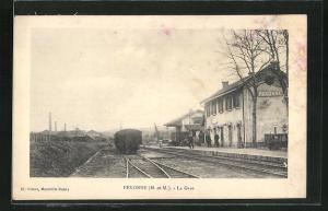 AK Pexonne, La Gare, Bahnhof