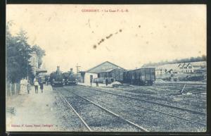 AK Corbigny, La Gare, Bahnhof