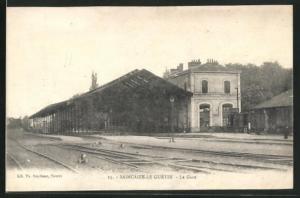 AK Saincaize-le-Guétin, La Gare, Bahnhof