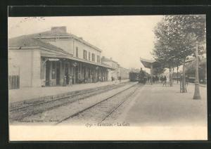 AK Cavaillon, La Gare, Bahnhof