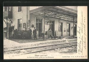AK Cirey, La Gare de Cirey pillée par les Allemands, Bahnhof