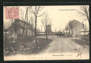 AK Barisey-la-Cote, La Gare, Bahnhof