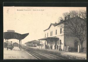 AK Sorgues, Quai de la Gare, Partie am Bahnhof