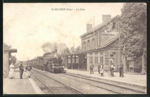 AK St-Sulpice, La Gare, Bahnhof