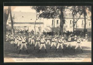 AK Nevers, Concours de Gymnaitique, L'Alliance de Ste-Savine, Le Baton