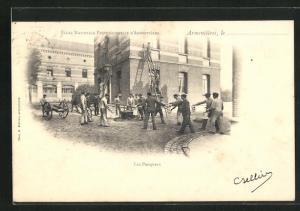 AK Armentieres, Ecole Nationale Professionnelle, Les Pompiers, Feuerwehr