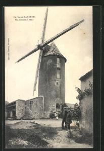 AK Ancenis, Un moulin a vent, Windmühle