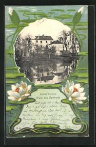 Passepartout-AK Apenrade, Schloss Brunlund