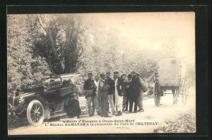 AK Chalo-Saint-Mard, Route d`Etampes, L`Hindou Ramah a la recherche du Cure de Chatenay, Autorennen