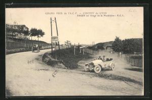 AK Lyon, Grand Prix de l`A. C. F., Circuit de Lyon, Esser au vriage de la Madeleine, Autorennen
