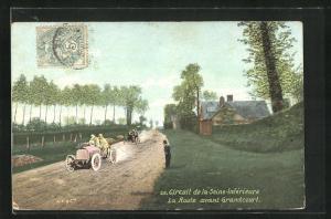 AK Grandcourt, Circuit de la Seine-Inferieure, La Route avant Grandcourt, Autorennen