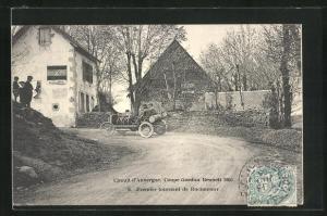 AK Rochefort, Circuit d`Auvergne, Coupe Gordon Bennett 1905, Premier tournant, Autorennen