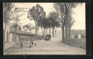 AK Clermont-Ferrand, Circuit d`Auvergne, Coupe Gordon Bennett 1905, Route du Circuit avant les 4 routes, Autorennen