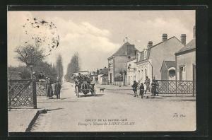 AK Saint-Calais, Circuit de la Sarthe 1906, Passage a Niveau, Autorennen