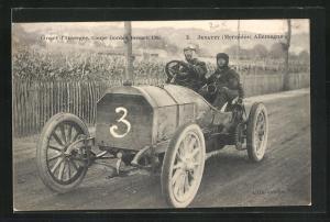 AK Auvergne, Circuit d`Auvergne, Coupe Gordon Bennett 1905, Jenatzy Mercedes Allemagne, Autorennen