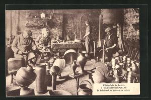 AK Villedieu-les-Poeles, L`Industrie du Cuivre, Le fabricant de cannes en cuivre, Handwerk