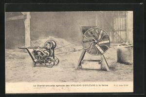 AK Le Chariot-brouette agricole des Ateliers d`Orléans à la ferme, Technisches Gerät in der Landwirtschaft