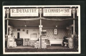 AK Ofen in Stube und Badezimmer, Chauffage Central Dutarte, Le Confort chez soi