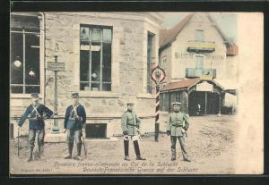 AK Col de la Schlucht, Frontière franco-allemande, Wachposten an der Grenze