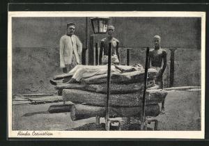 AK Indien, Hindu Cremation, Feuerbestattung