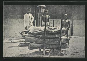 AK Indien, Hindoo Cremation, Feuerbestattung der Hindus