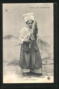 AK Types des Charentes, La Merine a Nastasie, Travestie