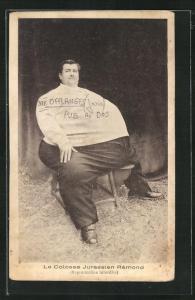 AK Übergewichtiger Mann, Le Colosse Jurassien Remond