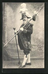 AK Nantes, le Suisse de St-Nicolas, Mann in Uniform mit Lanze, Stadttyp