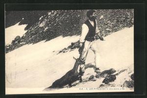 AK Jäger mit erlegter Gemse