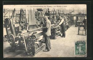 AK La Fabrication du Tissu - Les Métiers à tisser, Teppich-Herstellung