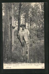 AK La Teste, Travaux de Resinage, Type de Resinier, Forstwirtschaft