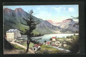 AK Piora, Ortsansicht mit Lago Ritom