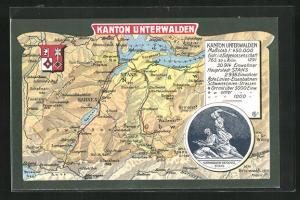 AK Stans, Landkarte vom Kanton Unterwalden