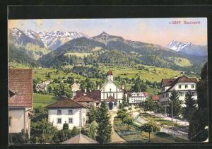 AK Sachseln, Ortsansicht mit Kirche