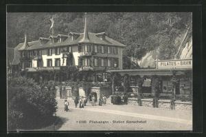 AK Alpnachstad, Hotel Restaurant Pilatus, Pilatus-Bahn