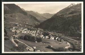 Foto-AK Airolo, Panorama mit Alpenmassiv