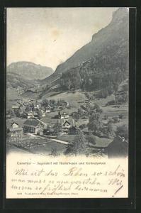 AK Emmetten, Sagendorf mit Niederbauen und Frohnalpstock