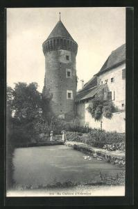 AK Estavayer, Le Chateau, Blick zur Burg
