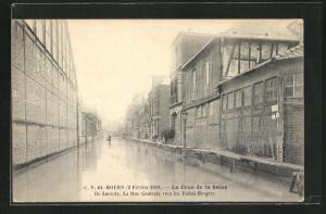 AK Rouen, La Crue de la Seine 1910, Hochwasser