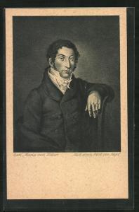 Künstler-AK Portrait des Komponisten Carl Maria von Weber