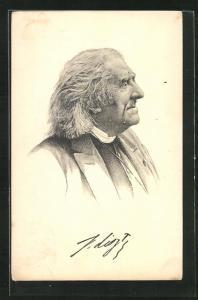 Künstler-AK Franz von Liszt in fortgeschrittenem Alter