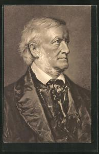Künstler-AK Richard Wagner in fortgeschrittenem Alter