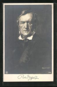 Künstler-AK Komponist Richard Wagner