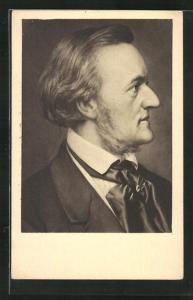AK Komponist Richard Wagner im Profil