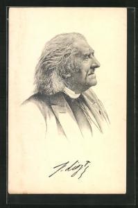 AK Komponist Franz von Liszt