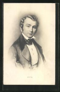 AK Portrait des Komponisten Lortzing