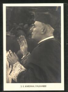 AK S.E. Kardinal Faulhaber beim Segensgruss